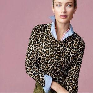 J Crew Leopard Print Tippi Sweater